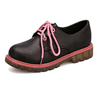 Women's Shoes   Low Heel Round Toe Oxfords Casual Black / Yellow / Pink / White