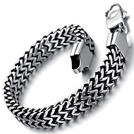 Mens Fashion Stainless Steel Bracelet, Silver, Fashion KB2181