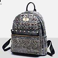 VUITTON ® Women PU Bucket Backpack / School Bag / Travel Bag - Pink / Yellow / Black