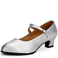 Non Přizpůsobitelné - Dámské - Taneční boty - Moderní - Kůže - Masivní podpatek - Černá / Červená / Stříbrná