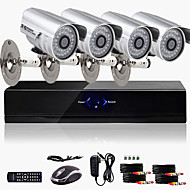 Ultra Low Price 4CH CCTV DVR Kit (4 Outdoor Waterproof 800TVL Color Cameras)