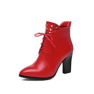 Women's Shoes  Chunky Heel Fashion Boots Boots Party & Evening/Dress Black/Red