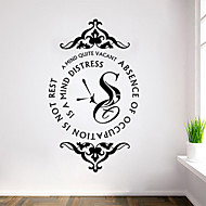 Wall Stickers Wall Decals Style Cherish Time English Words & Quotes PVC Wall Stickers