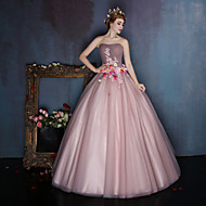 Dress - Candy Pink Ball Gown Sweetheart Floor-length Satin / Tulle