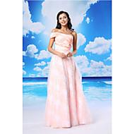 Formal Evening Dress - Candy Pink A-line One Shoulder Floor-length Organza/Satin