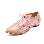 Oxfordky - Syntetika - Špičatá špička - Dámská obuv - Černá / Růžová / Bílá - Běžné - Nízký podpatek