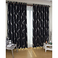 Two Panels European Fashion Silver Pressed Jacquard Window Blackout Curtains Drapes