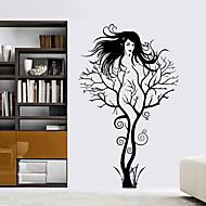 벽 스티커 벽 데칼 스타일의 새로운 트리 분기 소녀 PVC 벽 스티커
