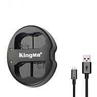 kingma® cargador de batería doble ranura USB para Nikon batería EN-EL15 para Nikon D7100 D750 D610 D7000 cámara D800E d600