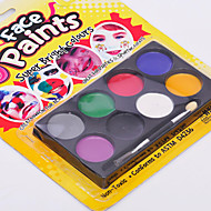 Body Art Face & Body Paint Palette Halloween Makeup(8 Colors)