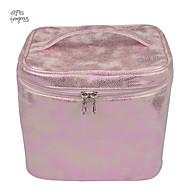 mode skinnende box kvinder professionel firkantet pu makeup kosmetik taske kvinders lagerkapacitet håndtaske store