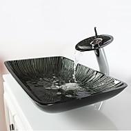 Moderní 1.2*57*37*11 obdélníkový dřez Materiál je Tvrzené skloKoupelnový dřez kohoutek do koupelny Montážní kroužek do koupelny
