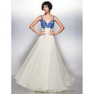 Formal Evening Dress - Multi-color A-line Straps Floor-length Chiffon