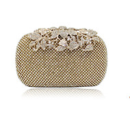 Women Polyester Event/Party / Wedding Evening Bag Gold / Silver / Black