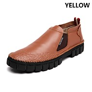 VOERPAUL® Men's Shoes Office & Career / Party & Evening / Casual Leather Boots Black / Brown / Yellow