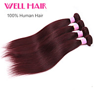 "1pcs/lot ""14-24""Inch Brazilian Virgin Hair Straight Human Hair 99j Color"