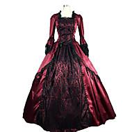 steampunk®marie antoinette gotisk koloni brokade perioden kjole ballkjole teater