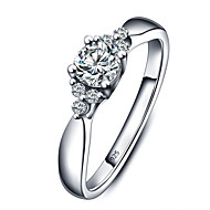 925 Sterling Silver Women Jewelry High Quality Fashion Cubic Zirconia Setting Ring Perfect Gift For Girls