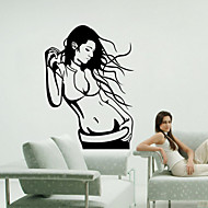 Wall Stickers Wall Decals Style Beautiful Girl PVC Wall Stickers