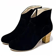 Women's Shoes Chunky Heel Pointed Toe Boots Casual Black / Yellow / Beige
