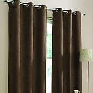 Two Panels The European Style Of Contracted Fashion Faux Suede Window Shades