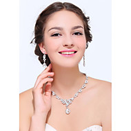 Women's Silver Rhinestone Cubic Zirconia Alloy Jewelry Set