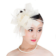 Lady Polyester Feather Flowers Fascinators Wedding Hat
