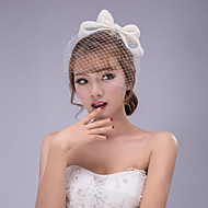 Women's Lace Bowknot Headpiece Birdcage Veils (Assorted Color)