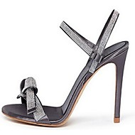 Women's Shoes Leatherette Spring / Summer / Fall Open Toe Office & Career / Dress / Party & Evening Stiletto Heel Gray