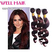 "1pcs/lot ""14-24""Inch Brazilian Virgin Hair Body Wave Human Hair Color 99j"