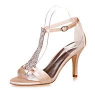 Chaussures Femme - Mariage / Soirée & Evénement - Noir / Bleu / Violet / Ivoire / Blanc / Argent / Champagne - Talon Aiguille -Bout