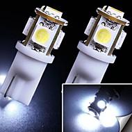 2x 7000k blanco frío 5 smd t10 168 194 2825 bombillas LED de la matrícula nos ilumina