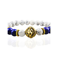 Women Men Fashion Bracelet Pulseras Mujer Black Lava Stone Lion Beads Bracelet Christmas Gifts