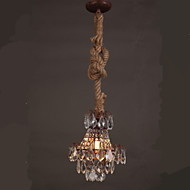 Retro Restaurant lounge Bar Hemp Industrial Wind Imitation Crystal Chandelier B