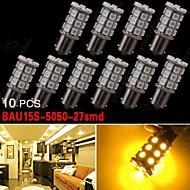 10x BAU15S 7507 PY21W 5050 27-smd bärnsten broms / backup / svans / blinkers LED-lampor