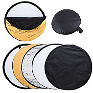 "24"" 60cm 5 in 1 Portable Collapsible Light Round Photography Reflector for Photography Studio"