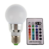 5W E26/E27 LED pódiová světla 1 High Power LED 300LM lm R GB Dálkové ovládání / Ozdobné AC 85-265 V 1 ks