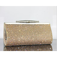 Women Evening Bag  Leather Type Minaudiere Without Zipper Gold Black Silver