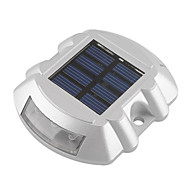 Aluminum Solar 6-LED Outdoor Road Driveway Dock Path Ground Light Lamp