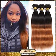 """1pcs / lot 10 """"-24"""" unverarbeitete malaysisches reines Haar mit zwei Tönen 1b / 30 ombre gerade Menschenhaar-Webart"""