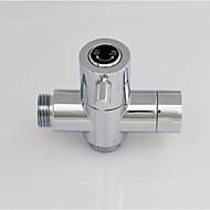 Chrome G1/2 (1/2'') T-adapter, Brass Valve Core Solid Brass Shower Water Separator For Bath Shower Or Bidet