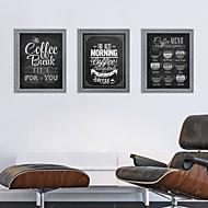 Abstrato / Paisagem / Natureza Morta / Arquitetura Conjunto Emoldurado Wall Art,Poliestireno Cinzento Cartolina de Passepartout Incluída