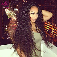 "Unprocessed 10""-24"" Virgin Brazilian Hair Natural Color Kinky Curly 130% Density Lace Front Wig"