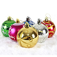 "6PCS/SET 6CM/2.4"" Mixed Colors and Styles Christmas Tree Decorations Hanging Shining Bubles Ball Party Xmas Ornaments"