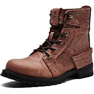 MasculinoBotas Montaria / Botas da Moda / Botas de Motocicleta / Trabalho & Segurança / Coturno / Botas de Cowboy-Rasteiro-Marrom-Couro-