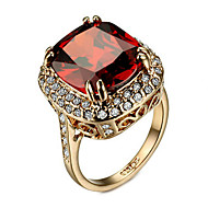 Ring Women's Cubic Zirconia Alloy Alloy 6 / 7 / 8 / 9 Gold