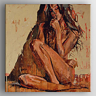 Oil Painting Immpression People Painting Hand Painted Canvas with Stretched Framed
