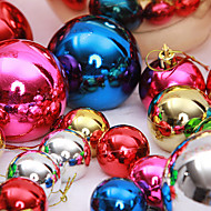 "12PCS/SET 3CM/1.2"" Mixed Colors Christmas Tree Decorations Snow Ball Party Festival Xmas Ornaments Supply"