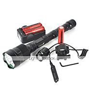 LED Fenerler LED 4800 Lümen 5 Kip Cree XM-L T6 18650 Darbeye Dayanıklı Şarj Edilebilir Su Geçirmez Strike Bezel Taktik Acil
