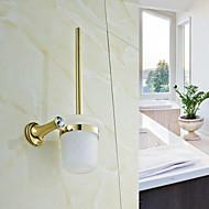 Toiletbørsteholder / Poleret messingMessing /Moderne